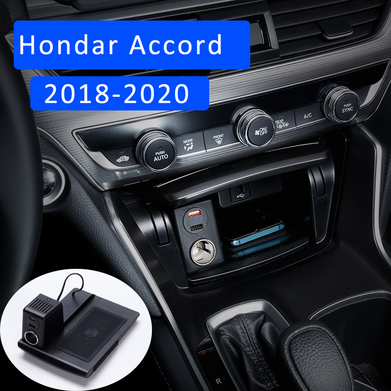 Car wireless charger for honda accord inspire wireless charger 2018 2019 2020 10Th Generation mobile phone fast charging holder