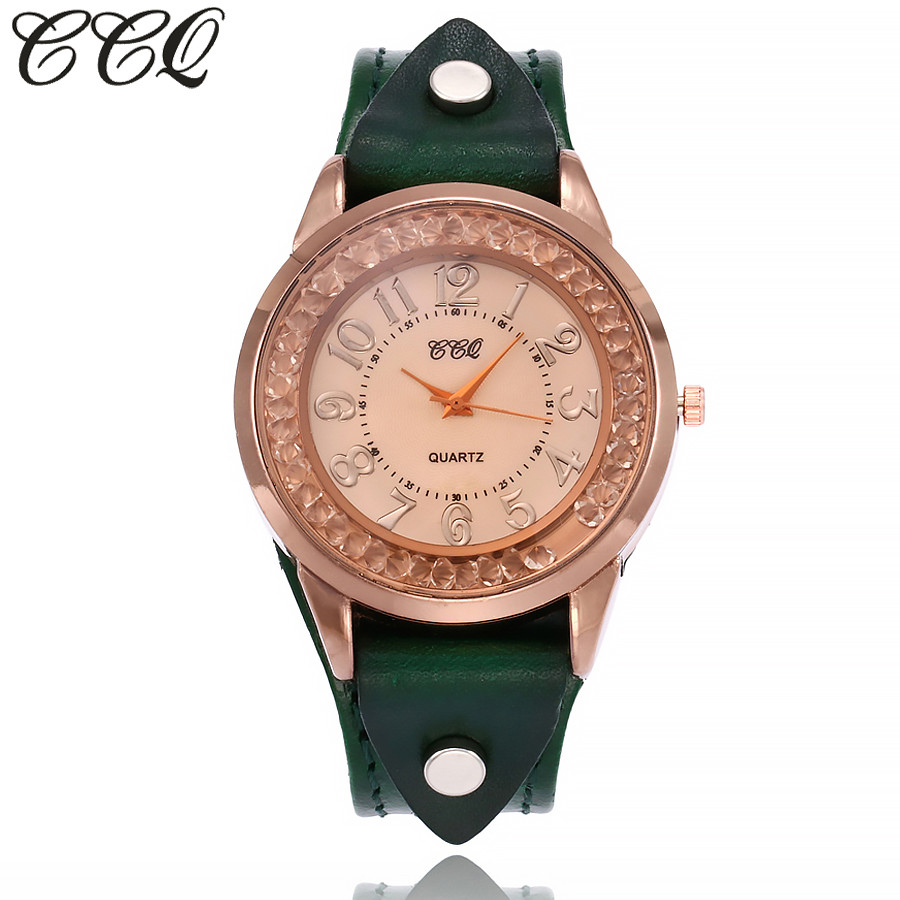 CCQ Motre Brand New Women's Watch Casual Quartz Leather Band Newv Strap Watch Analog Wrist Watch Clock Zegarek Damski Relogio #A