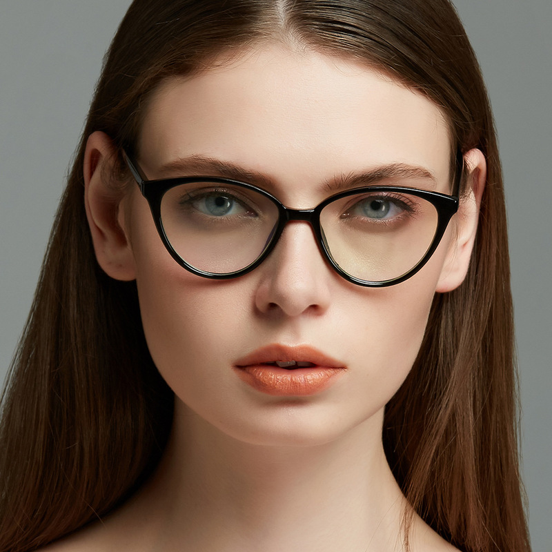 Fashion Design Cat Eye Plastic Spectacle Frame Luxury Sexy Ladies Travel Glasses  Classic Retro Men Optical Prescription Glasses