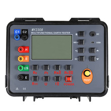 Double clamp grounding resistance tester soil resistivity ground voltage DC voltage and AC current