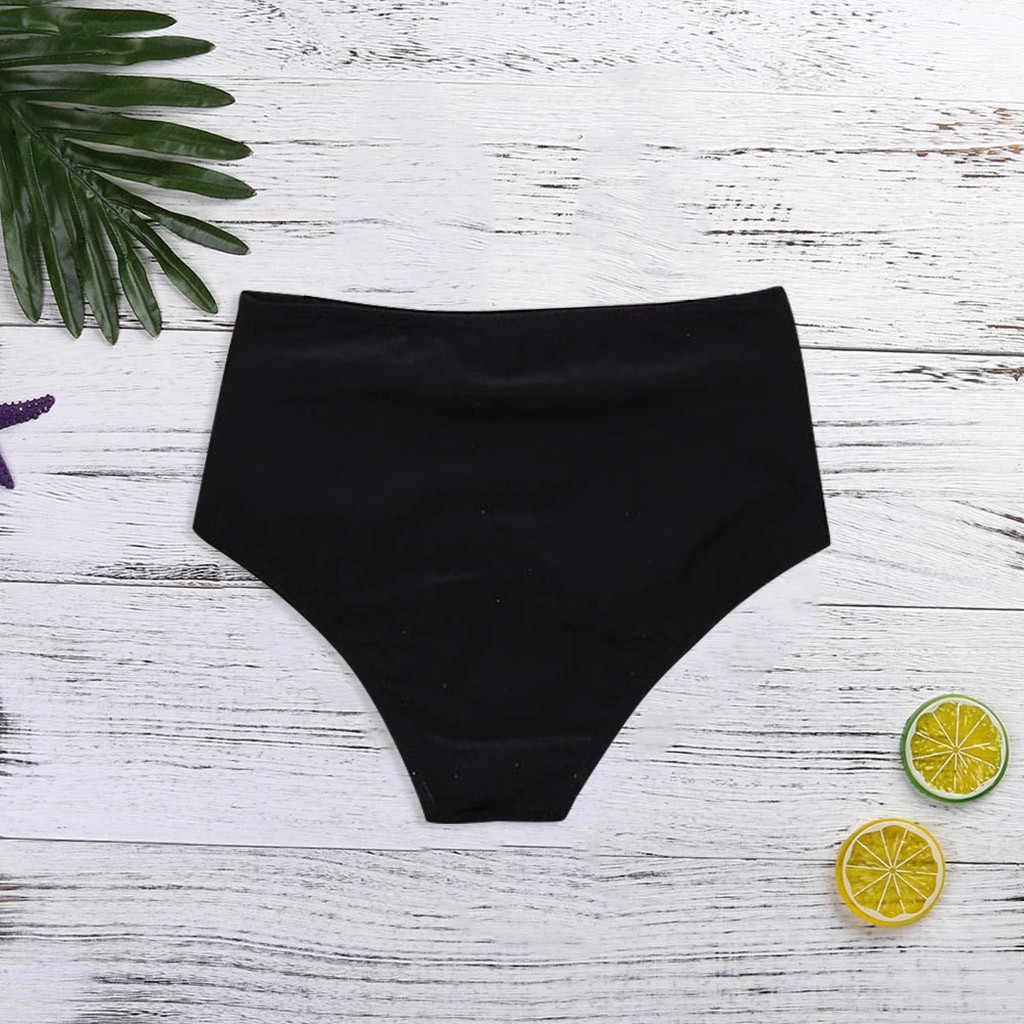 سراويل بيكيني للسيدات الجزء السفلي من ملابس البيكينيات 2020 ملابس داخلية موخير ملابس داخلية عالية الخصر للسباحة سراويل داخلية نسائية صيفية للاستحمام