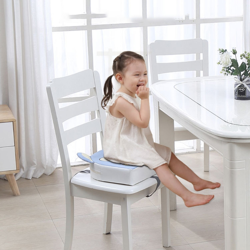 Kid PU Leather High Chair Pad Booster Dining Room Detachable Sponge Seat Cushion Q9QB