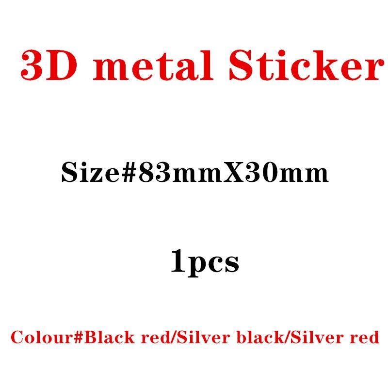 1pcs New Metal Auto Car BLACK RED Badge For Audi S Line Sline A4 S4 RS4 A6 TT A3 Emblem Badge Sticker