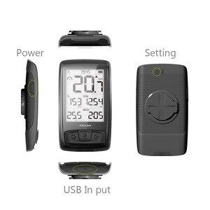 Image 3 - M4 kablosuz bisiklet bilgisayar bisiklet kilometre hız ve ritim sensörü bağlayabilirsiniz Bluetooth ANT +( SET bir nabız monitörü)