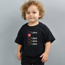Summer children kids baby likee t shirt students funny shirts