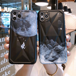 Chaopai snow mountain astronaut for Apple 12 Pro mobile phone case suitable for men's innovative for iPhone 11 promax anti fall