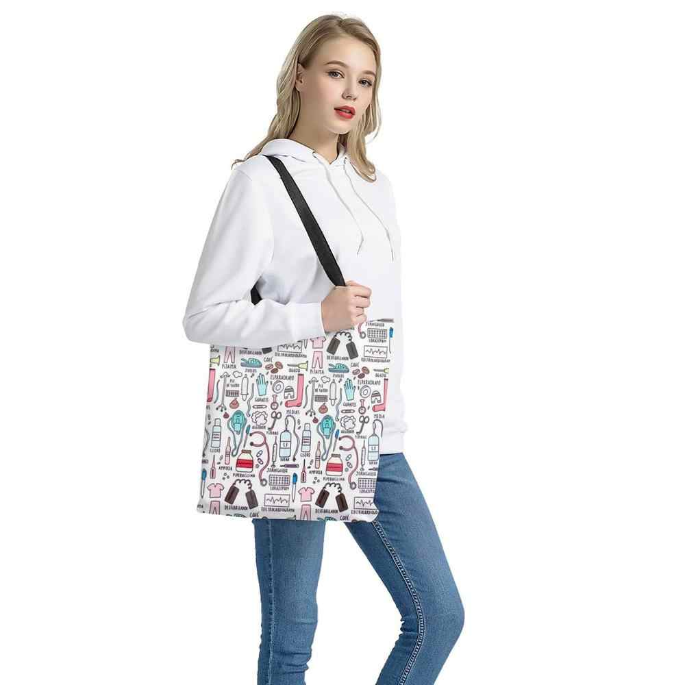 ELVISWORDS femmes Shopping sacs à main mignon teckel chien impression tissu fourre-tout casual voyage sac de rangement réutilisable été sac de plage