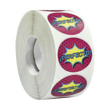 500 pcs/roll stationary stickers Italian language sticker for teachers reward students, stationery decoration