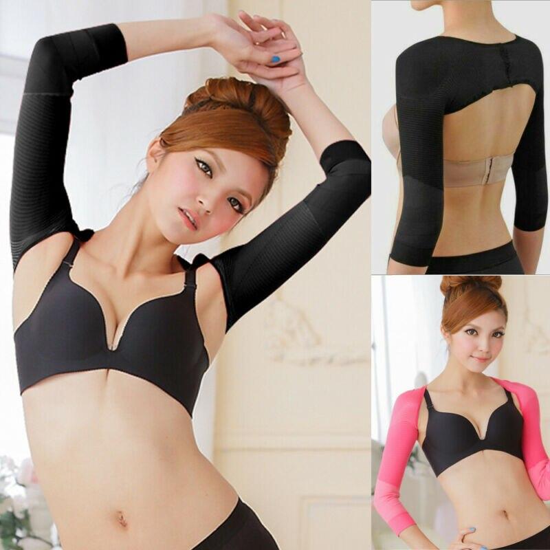 1 пара, женское корректирующее белье для рук, корректор спины, плеч, гетры для рук, Корректирующее белье для похудения, Корректирующее белье
