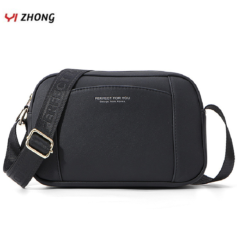 YIZHONG Simple Leather Luxury Shoulder Bag Crossbody Bags For Women Multifunction Bucket Messenger Bag Ladies Chest Bag  Sac