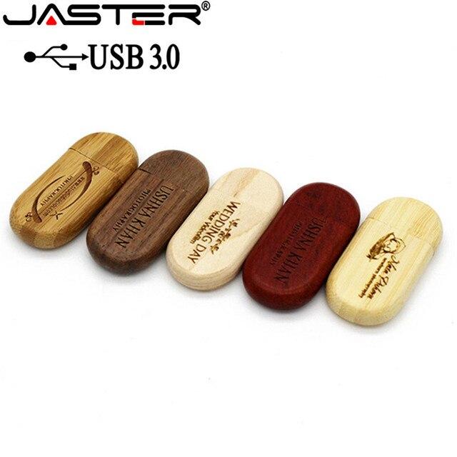 JASTER USB 3.0 clé usb bois haute vitesse 4gb 16gb 32gb 64gb clé USB cadeaux clé usb disque 1 pièces logo personnalisé gratuit