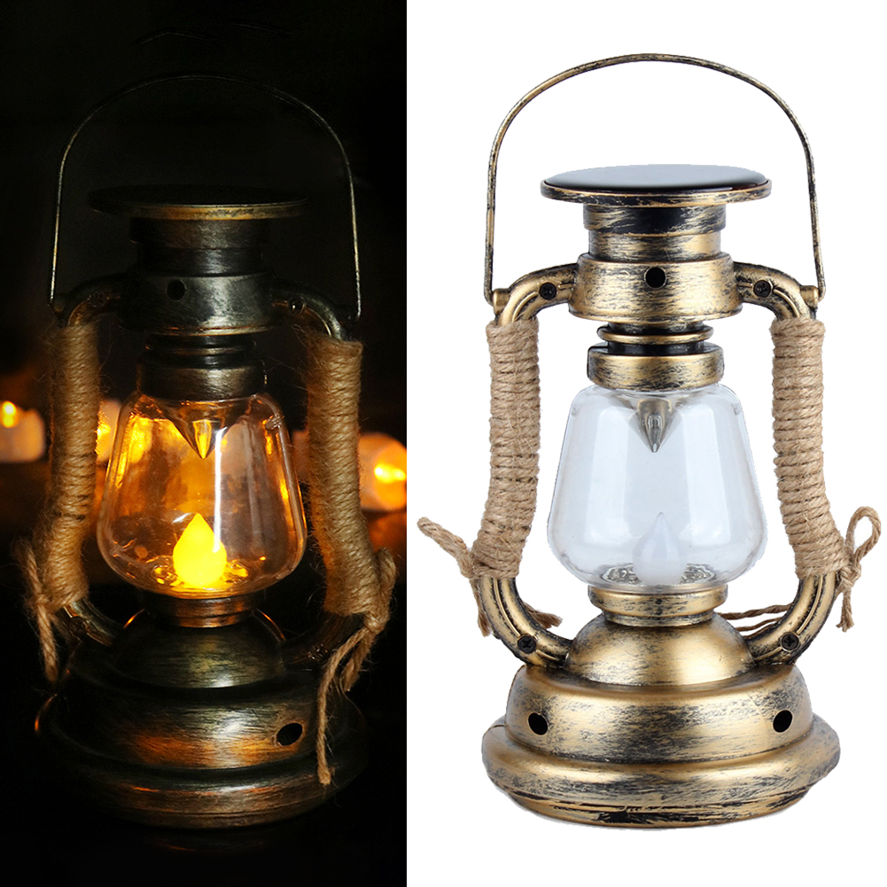Outdoor Vintage Solar Lamp Led Home Warm White Hanging Garden Multifunctional Induction Candle Light Decorations Waterproof