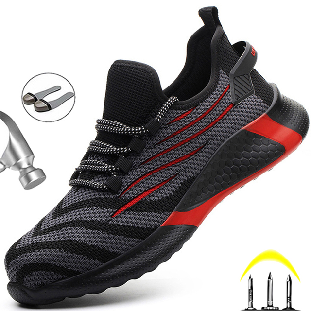 Anti-puncture Working Sneakers -Male Indestructible Work Shoes  1
