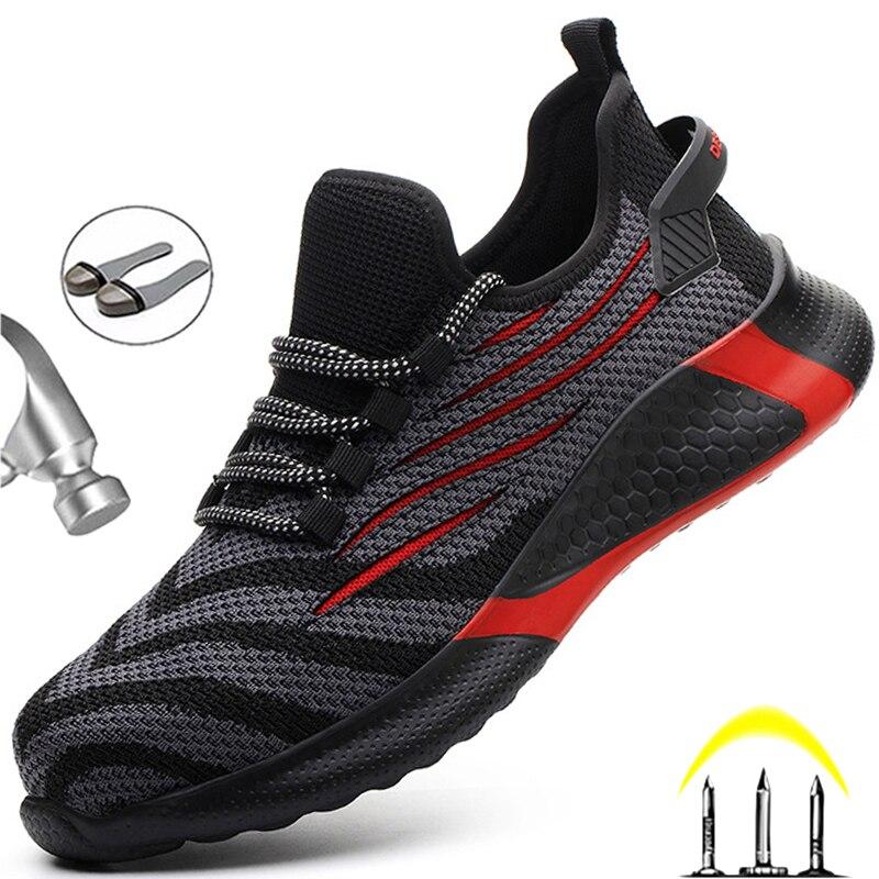 Männer Arbeiten Sicherheit Schuhe Anti-punktion Arbeits Turnschuhe Männlichen Unzerstörbar Arbeit Schuhe Männer Stiefel Leichte Männer Schuhe Sicherheit Stiefel