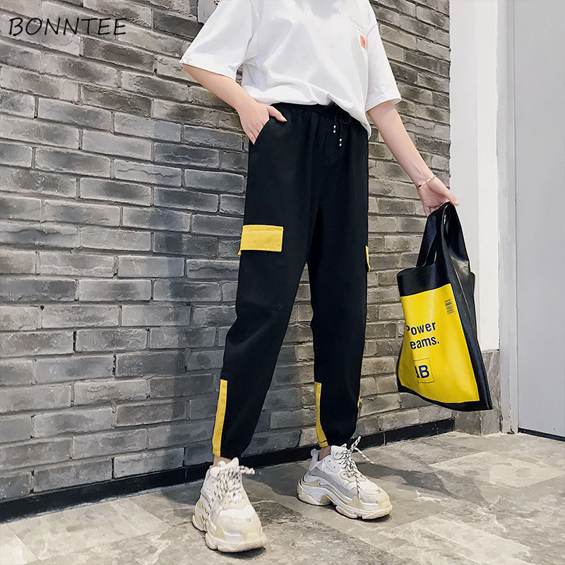 Pants Women High Waist Streetwear Novelty Patchwork Hot Sale Fashionable Sweatpants Womens Korean Street Style Trousers Casual