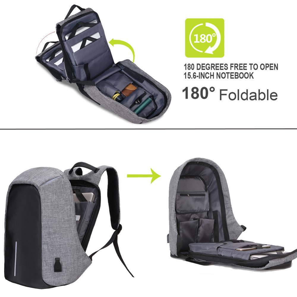 Image 2 - 15.6 Inch Laptop Backpack For MacBook Pro 15 Anti Theft 17.3 inch Laptop Bag Backpack Men/Women Oxford Waterproof Notebook BagLaptop Bags & Cases   -