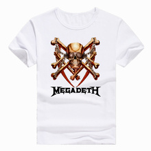 Asian Size Print Megadeth Band Heavy Metal Rock Roll Pop T-shirt Short sleeve Summer Casual O-Neck Tshirt Men And man HCP732