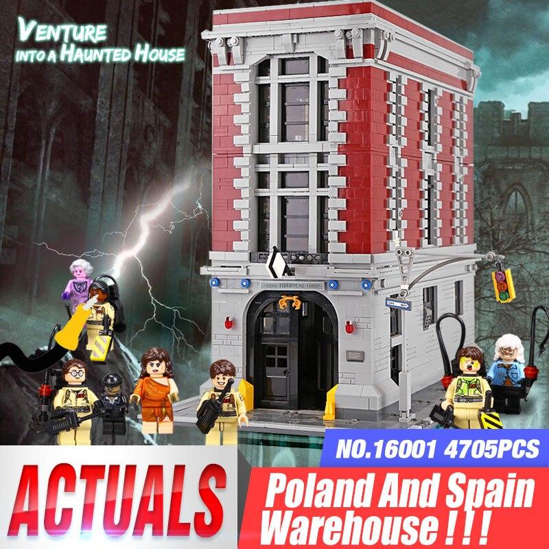 Oyuncaklar ve Hobi Ürünleri'ten Bloklar'de 16001 Ghostbusters Firehouse genel merkezi Seti ile uyumlu 75827 Blokları Çocuklar Oyuncaklar Çocuklar Için Cadılar Bayramı Noel Hediyeleri'da  Grup 1