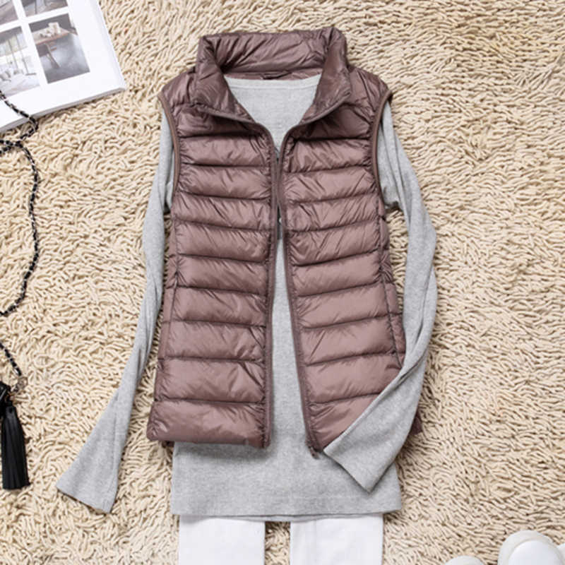 S-4XL 2020 Herfst/Winter Nieuwe Licht Donsjack Vest Draagbare Vrouwen Kleding Vest Jas Grote Size Bodywarmer Liner wilde 9 Kleuren