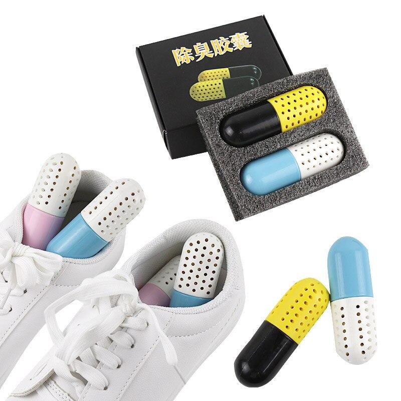 Sneakers Shoe Deodorizer Closet Steriliser Eliminator Drawer Air Purifying Smell Remover Capsule Shape Moisture Absorber Dryer
