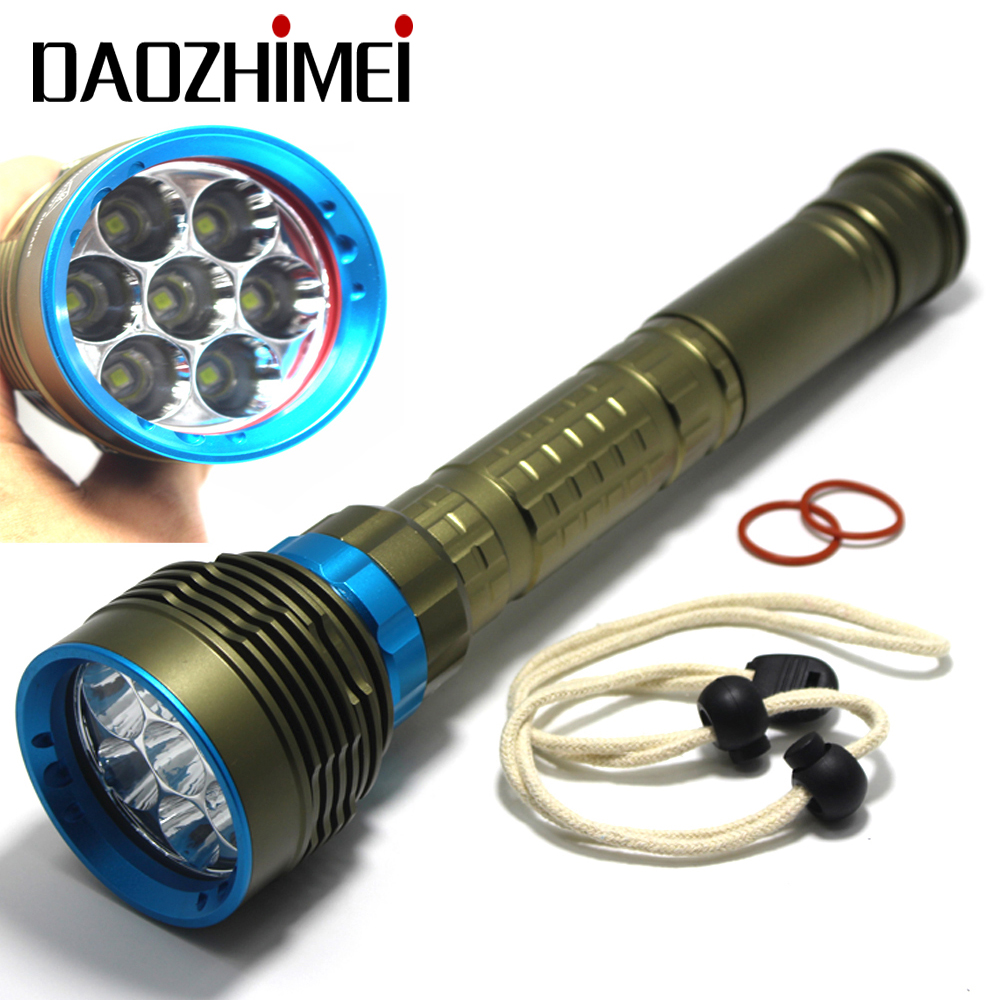 2019 New 8000LM High Power Waterproof Diving Flashlight XML T6 L2 Underwater Light 3 Modes 26650 Scuba Flash Light
