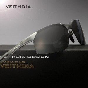 Image 3 - VEITHDIA 선글라스 알루미늄 마그네슘 무테 UV400 남성 선글라스 편광 된 태양 안경 안경 Accessorie 남성 남성 6591