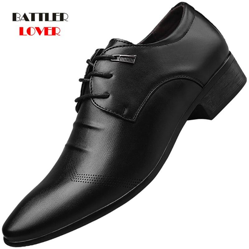 New Formal Oxford Shoes For Mens Dress Shoes Man Wedding Dress Office Shoes Men Zapatillas Hombre Deportiva Mocassin Homme Derbi
