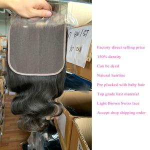 Image 4 - 7x7 תחרה סגר עם חבילות Queenlike רמי שיער אריגת גדול תחרה גודל 3 4 ברזילאי גוף גל שיער טבעי חבילות עם סגירה