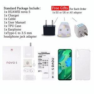 Image 5 - 6,39 дюймов Оригинальный HuaWei Nova 5 мобильный телефон Kirin 810 Восьмиядерный 8 ГБ 128 ГБ Android 9,0 In screen Fingerprint 3500 мАч
