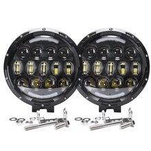 Luz de trabajo Led redonda para coche, parachoques delantero alto y bajo, 105W, 7 pulgadas, 12V, 24V, todoterreno, 4WD, 4x4, camión, remolque