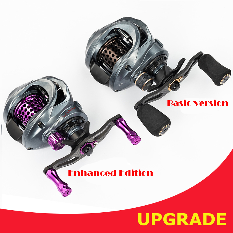 2019 Fishband PW100 Upgrade Baitcasting Reel Carp Bait Cast Casting Fishing Reel For Trout Jigging Pesca Bass Fishing Tackle