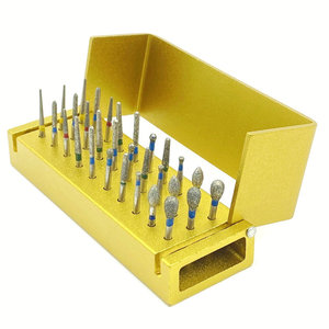 Image 1 - 30pcs Dental Diamond Burs Drill Disinfection Block High Speed Handpiece burs Holder Alumimum Instrument Teeth Whitening Tool