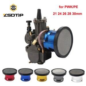 ZSDTRP Новый 50 мм мотоциклетный воздушный фильтр ветровая чашка с рожком сплав труба с Guaze для PWK21/24/26/28/30 мм pe28/30 мм карбюратор