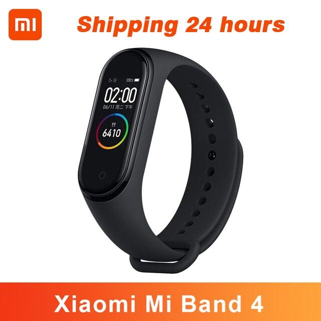 In Stock Original Xiaomi Mi Band 4 Smart Bracelet 4 Color AMOLED Screen Heart Rate Fitness Tracker Bluetooth5.0 Waterproof Band4