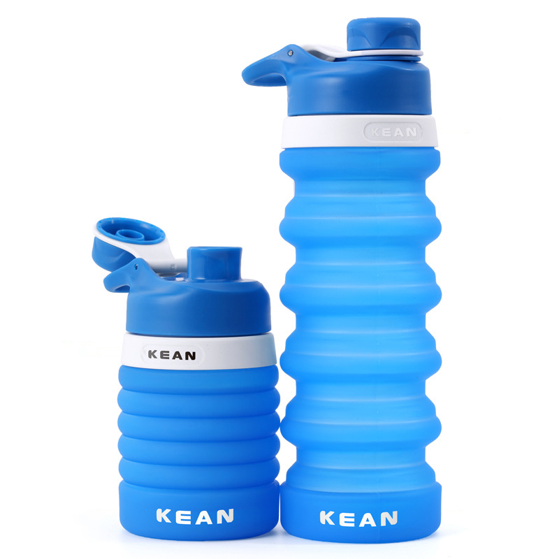 550 750ML Portable Silicone Water Bottle Retractable Folding Coffee Bottles Outdoor Travel Collapsible Sport My Drinking Kettle in Water Bottles from Home Garden