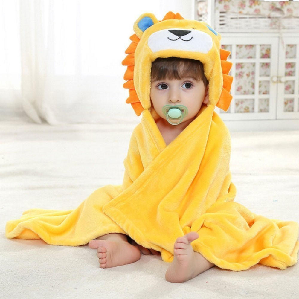 Cute Animal Baby Bathrobe Comfortable Babies Blanket Kids Hooded Bathrobe Toddler Baby Bath Towel Kids Bath Robe Washcloth