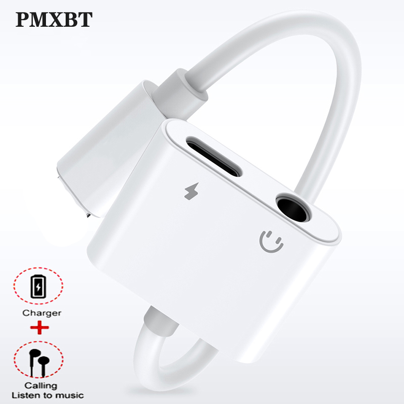 For IPhone X XS Max XR 7 8 Plus Charger Earphone Audio Adapter For Lightning To 3.5mm Jack Aux Headphone OTG Splitter Converter