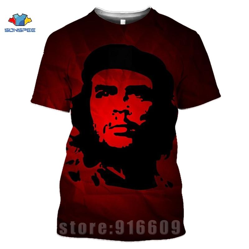 Anime 3d Print T Shirt Streetwear Che Guevara Men Women Suit Fashion T-shirt Kids Harajuku Tees Funny Shirts Homme Tshirt A78