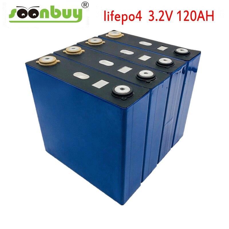 1PCS 3.2V 120ah Lifepo4 Battery  12V 24V 36V 48V PACK Deep Cycle LFP Lithium Iron Phospha Lithium Cell EU US CA RU TAX Free
