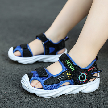 Dziecięce sandały chłopięce buty na plażę letnie solidne podeszwie dziecięce miękkie casualowe sandały outdoorowe chłopięce sandały modne tanie i dobre opinie Smart Poro 4-6y 7-12y 17cm 17 5cm 18cm 18 5cm 19cm 19 5cm 20cm 20 5cm 21cm 21 5cm 22cm 22 5cm CN (pochodzenie) Lato Sportowe sandały