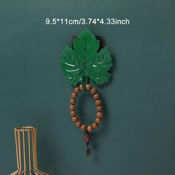 Leaves Shape Iron Hook Nordic Wall Decoration Leaf Key Watch Bags Jewelry Haning Hook Mutifuctional Wall Hanger Rack 14