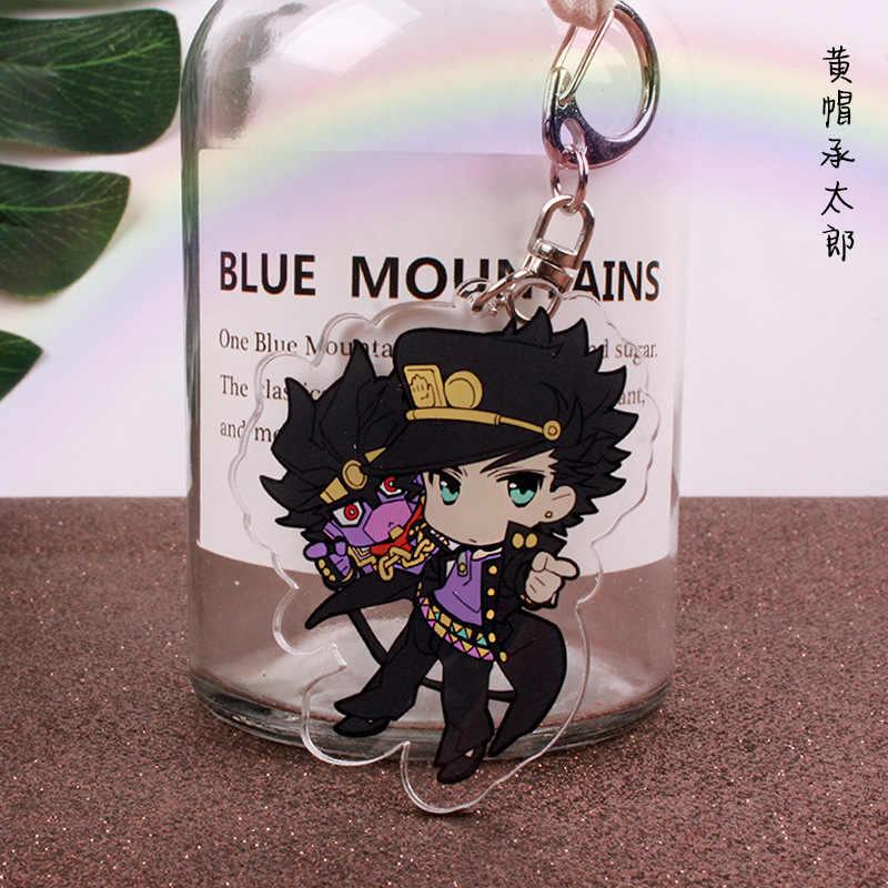 Anime JoJo Kỳ Dị Phiêu Lưu Kujo Jotaro Kira Yoshikage Acrylic Móc Khóa Phụ Kiện Cosplay