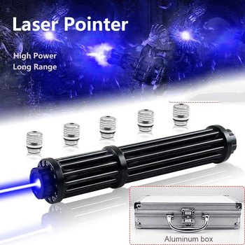 High Power Blue Laser Pointers Laser Torch 445nm Focusable Laser Sight Pointers Flashlight Burn Match Candle Lit Cigarette high power military 450nm blue laser pointer 60000mw flashlight burn match candle lit cigarette wicked lazer torch 5 caps glass