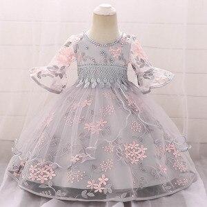 Летнее платье для маленьких девочек кружевное платье принцессы для новорожденных от 2 до 1 года, платье для малышей Пасхальный костюм вечерн...