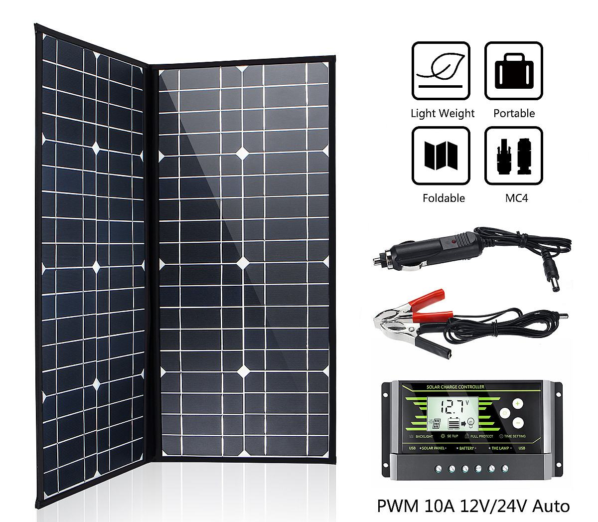 LEORY Brand 60W 21 <font><b>Volt</b></font> <font><b>Solar</b></font> Panel China Cell/Module/System Charger/<font><b>Battery</b></font> + 10A <font><b>12</b></font>/24 <font><b>Volt</b></font> Controller 60 Watt <font><b>Solar</b></font> Panels image