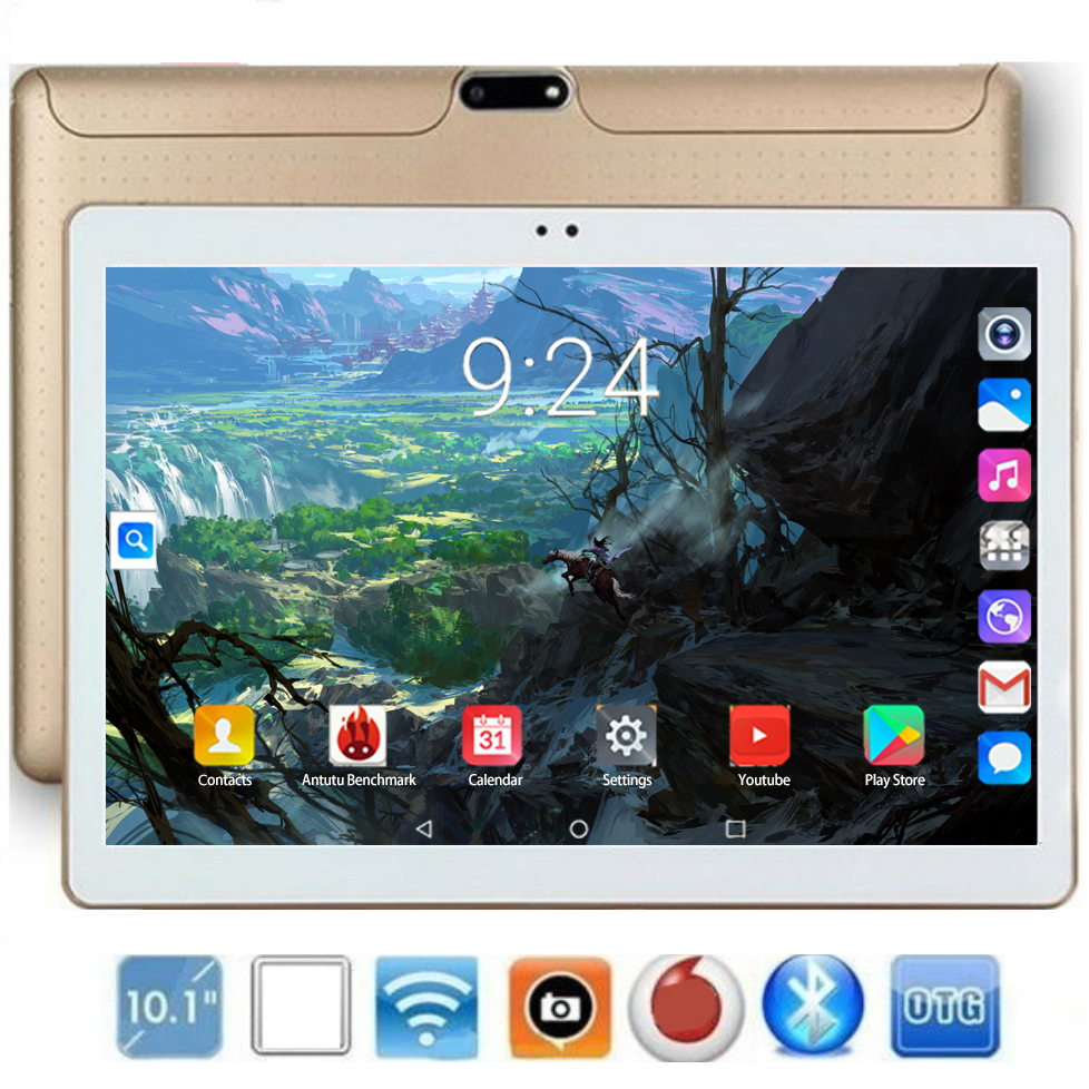 10 Inch Tablet Pc 10 Core RAM 6GB ROM 128GB IPS 4G Lte Phone Call Tab Wifi GPS Bluetooth Android 8.0 Tablet 10.1 Android Tablet