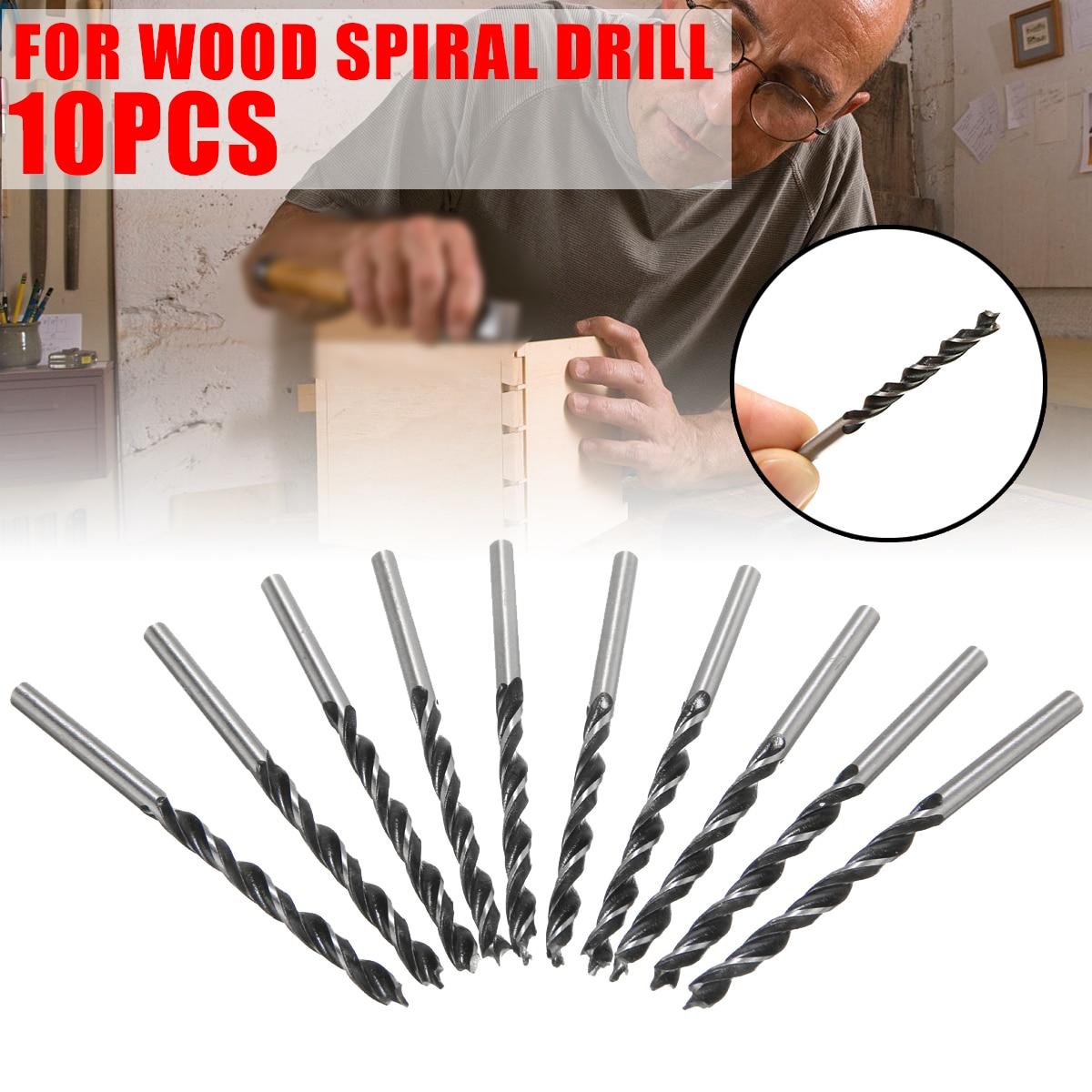 10Pcs 4mm Diameter Twist Drill Bits Set Woodworking Twist Drill Bit Wood Drills With Center Point For Woodworking Power Tools