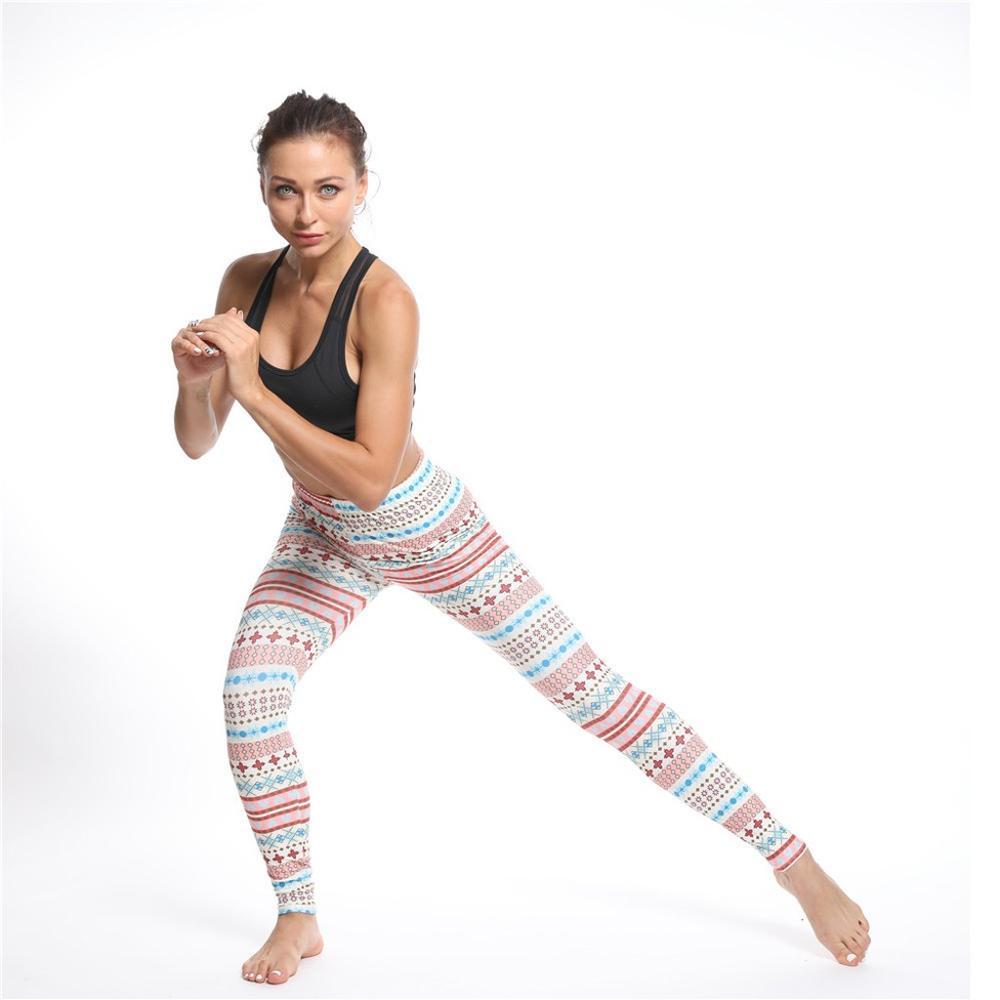 Ladies Pants Womens  Christmas Print High Waist Sports Fitness Hips Leggings christmas leggings\t  leggins deporte mujer\t \t 3@