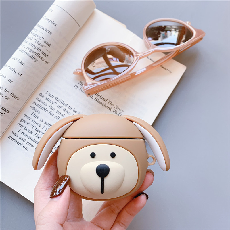 Cartoon Dog For Apple Airpods Case Soft Silicone Wireless Bluetooth Earphone Protective Cover Cute Headphone Case Box For airpod