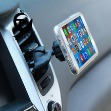 New Car Phone Holder Air Outlet and CD Port Dual-Purpose Magnet on-Board Bracket 360 Degree Rotation Universal Convenient Tiny